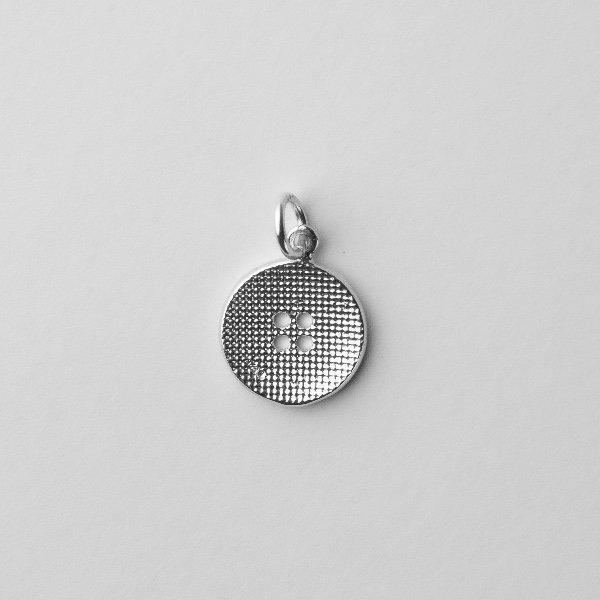 silver clootie dumpling button charm